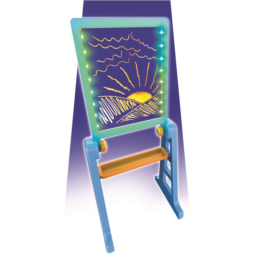 Mindscope Blue Orange Glow Pad Xl Led Drawing Board W Easel