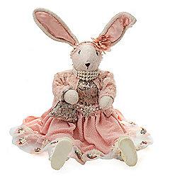 478-681 Karen Didion Originals 26 Handmade Pink Sitting Bunny - 478-681