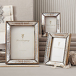 Home Accents 479-046 Two's Company Set of 3 Gold-tone Leaf Motif Photo Frames - 479-046