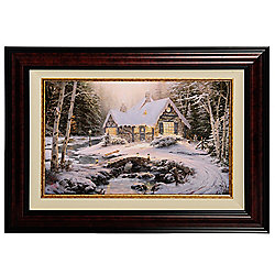 479-199 Thomas Kinkade Studios Winter Light Cottage Limited Edition Framed Canvas - 479-199
