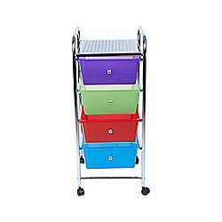 Mind Reader All Purpose 4-Drawer Rolling Storage Cart
