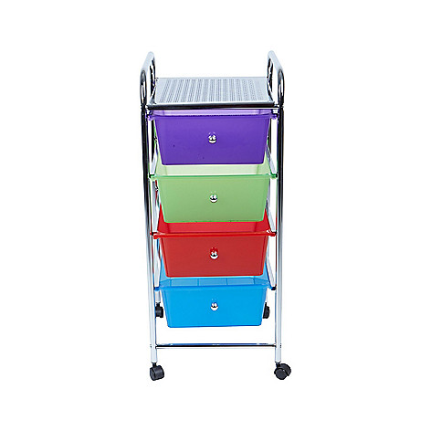0777be14bb6 479-553- Mind Reader All Purpose 4-Drawer Rolling Storage Cart