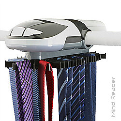 Mind Reader Automatic Revolving Tie Organizer w/ LED Light