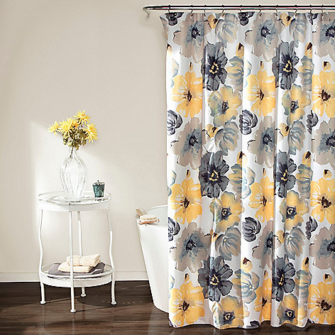479 968 Lush Decor Leah 72 Grey Yellow Floral Print