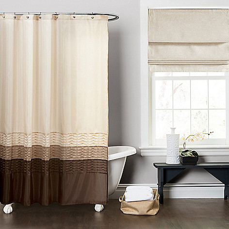 479 971 Lush Decor Mia 72 Color Block Pleat Shower Curtain