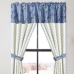 Home Accents - 480-034 Cozelle® 'Belle du Jour' 42 x 102 Window Panel, Valence & Tie Set - 480-034