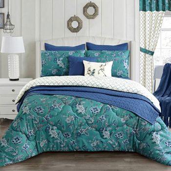 Bedding Under $50 Comfort is King...and Queen - 480-038 Cozelle® Belle du Jour Microluxe™ All Season Reversible 3-Piece Comforter Set - 480-038