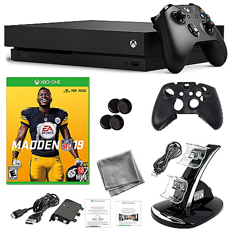 Microsoft Xbox One X 1TB Console w/ Madden NFL 19 & Accessories