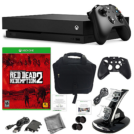 Microsoft 1TB Xbox One X w/ Red Dead Redemption 2 Game & Accessories Bundle