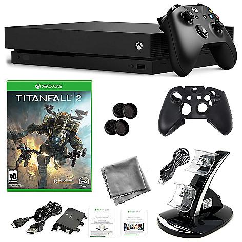Microsoft 1TB Xbox One X w/ Titanfall 2 Game & Accessories Bundle