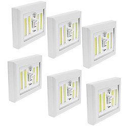 "Set of 6 Adhesive & Magnetic ""Place Anywhere"" LED Switch Lights"
