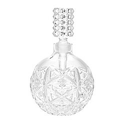 Waterford Crystal 4 oz Wedge & Diamond Cut Perfume Bottle w/ Stopper