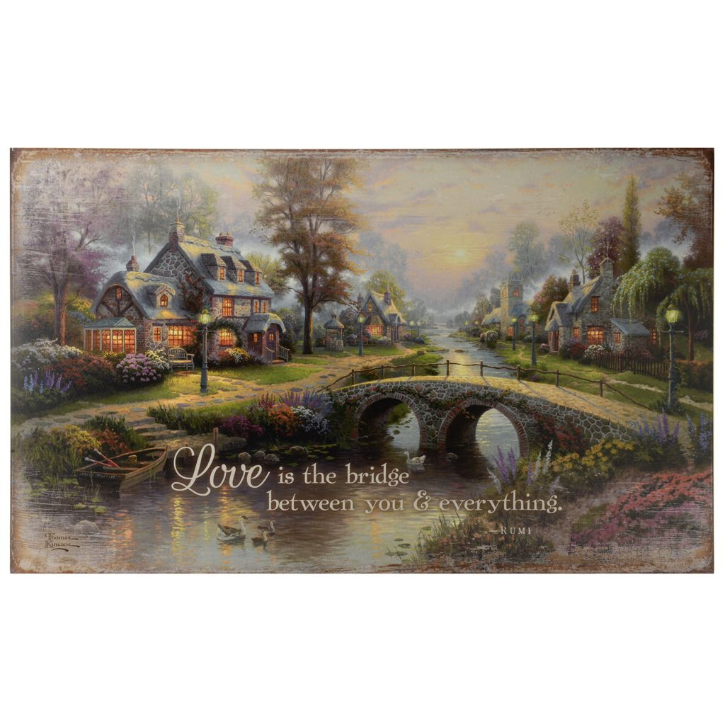Thomas Kinkade Studios 30 Inspirational Wooden Sign On Sale At Evine Com