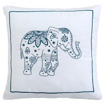 Only at ShopHQ 480-694 Cozelle® Kismet 18 Elephant Embroidered Decorative Pillow - 480-694