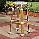 Grey bar stool on your patio