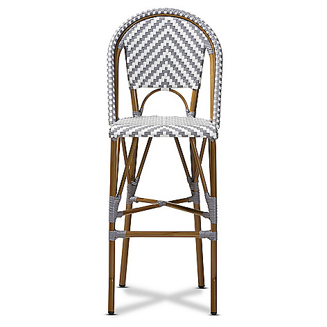 Magnificent Baxton Studio Ilene 46 75 Indoor Outdoor French Bistro Stackable Bar Stool Uwap Interior Chair Design Uwaporg