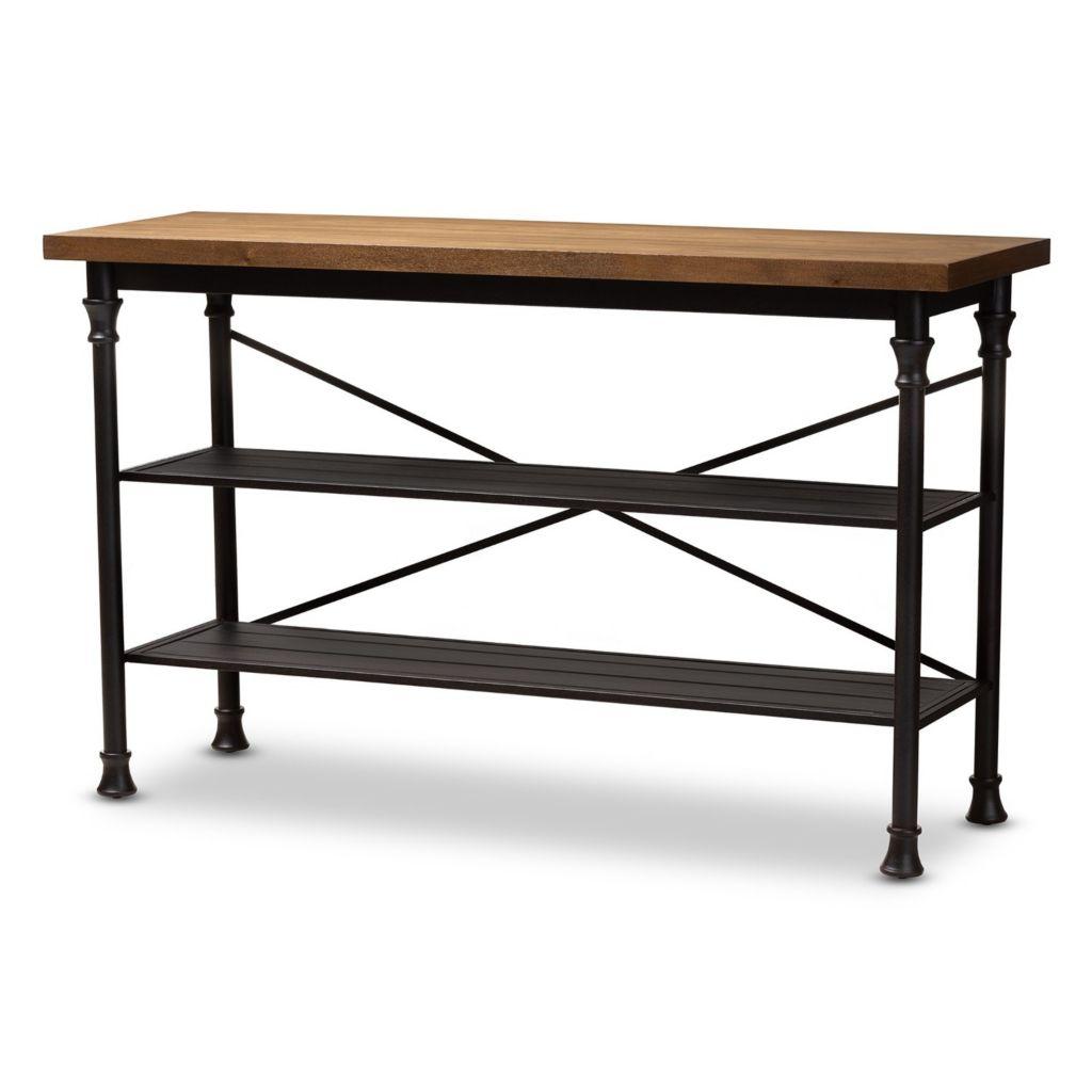 Awe Inspiring Baxton Studio 60 Velera 2 Shelf Console Table Spiritservingveterans Wood Chair Design Ideas Spiritservingveteransorg
