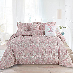 481-174 Cozelle® Distressed Damask Print 5-Piece Comforter Set - 481-174