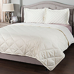 North Shore Living™ Ultra Soft Satin to Velvet Reversible Quilted Blanket