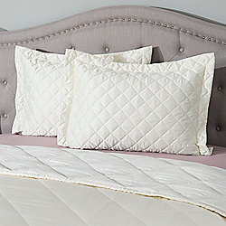 481-324 North Shore Living™ Set of 2 Satin Quilted Shams - 481-324