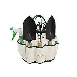 Pure Garden 8-Piece Garden Tote, Hand Tools & Supply Essentials Kit