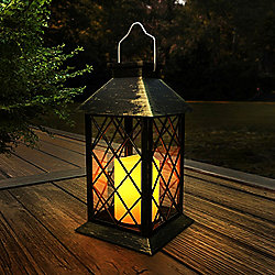 "Lavish Home 13.25"" Lamp w/ Solar LED Candle"