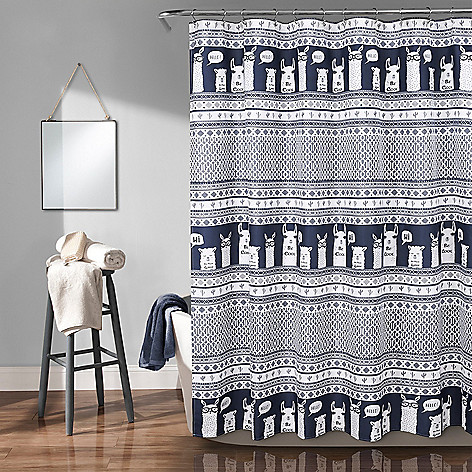 481 714 Lush Decor 72 Llama Print Shower Curtain