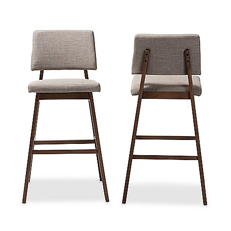 Baxton Studio 42 25 Colton Set Of 2 Upholstered Finished Wood