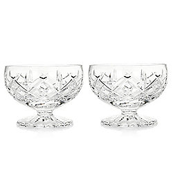 "Waterford Crystal Princess Set of 2 (4"") Footed Serving Bowls"