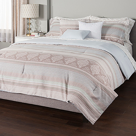 Comforter Sets.Cozelle Amalfi Microluxe 10 Piece Comforter Set