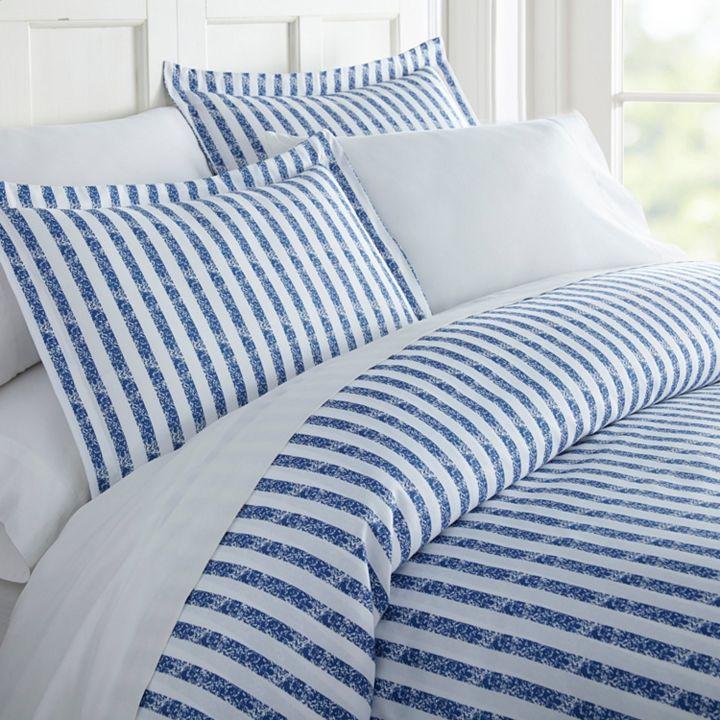 483-329 - Home Collection Premium Ultra Soft Microfiber 3-Piece Puffed Rugged Stripes Duvet Set