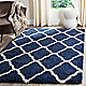 Navy / Ivory rug in your home