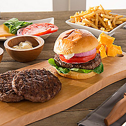 Deen Brothers Set of 12 (5 oz) Steak Cheddar Burgers