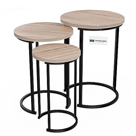 116c047cc4459 484-379- Lavish Home Set of 3 Round Nesting Tables