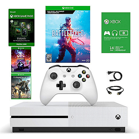 Microsoft Xbox One S 1TB Console w/ Battlefield V, TitanFall 2, Ori & The Blind Forest & Accessories