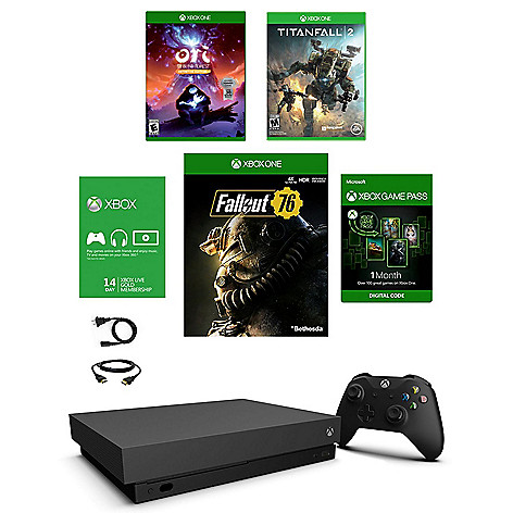 Microsoft Xbox One X 1TB Console w/ Fallout 76, Titanfall 2 & Ori And The Blind Forest Games