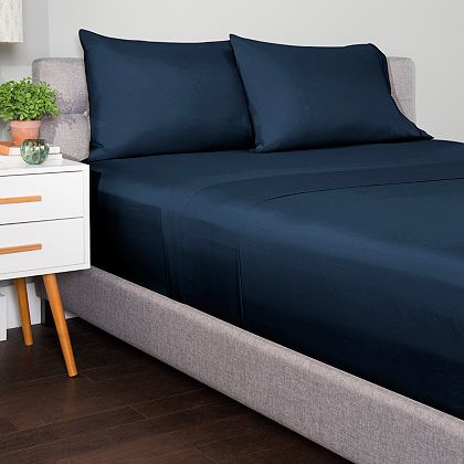 Summer Bedding Can't Miss Deals - Starting at $11.99 - 484-741 Cozelle® Valencia Microluxe™ Printed or Solid 4-Piece Sheet Set