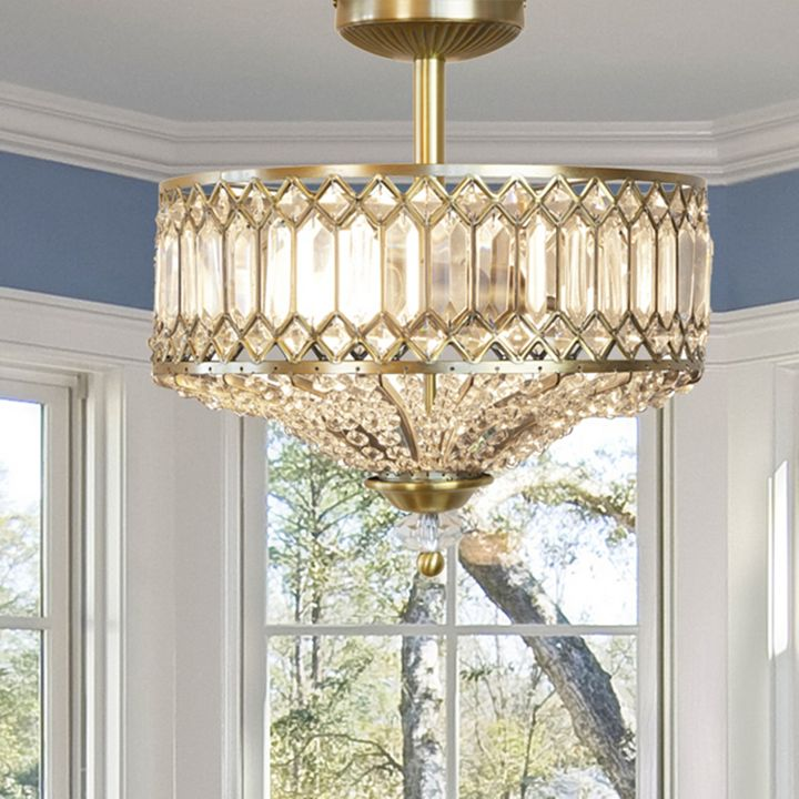 Home at ShopHQ - 485-198 Style at Home with Margie 15.25 Tiered Jeweled Glass Lighting Fixture