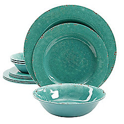 Studio California Mauna 12-Piece Melamine Dinnerware Set