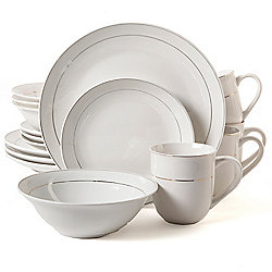 Gibson Home Gold Moon 16-Piece Porcelain Dinnerware Set