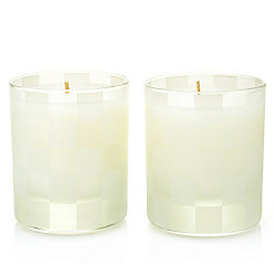 MacKenzie-Childs Glow Apothecary Set of (2) 5 oz Winter Bouquet Candles