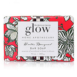 MacKenzie-Childs Glow Apothecary Winter Bouquet Large Bar Soap 7.5 oz