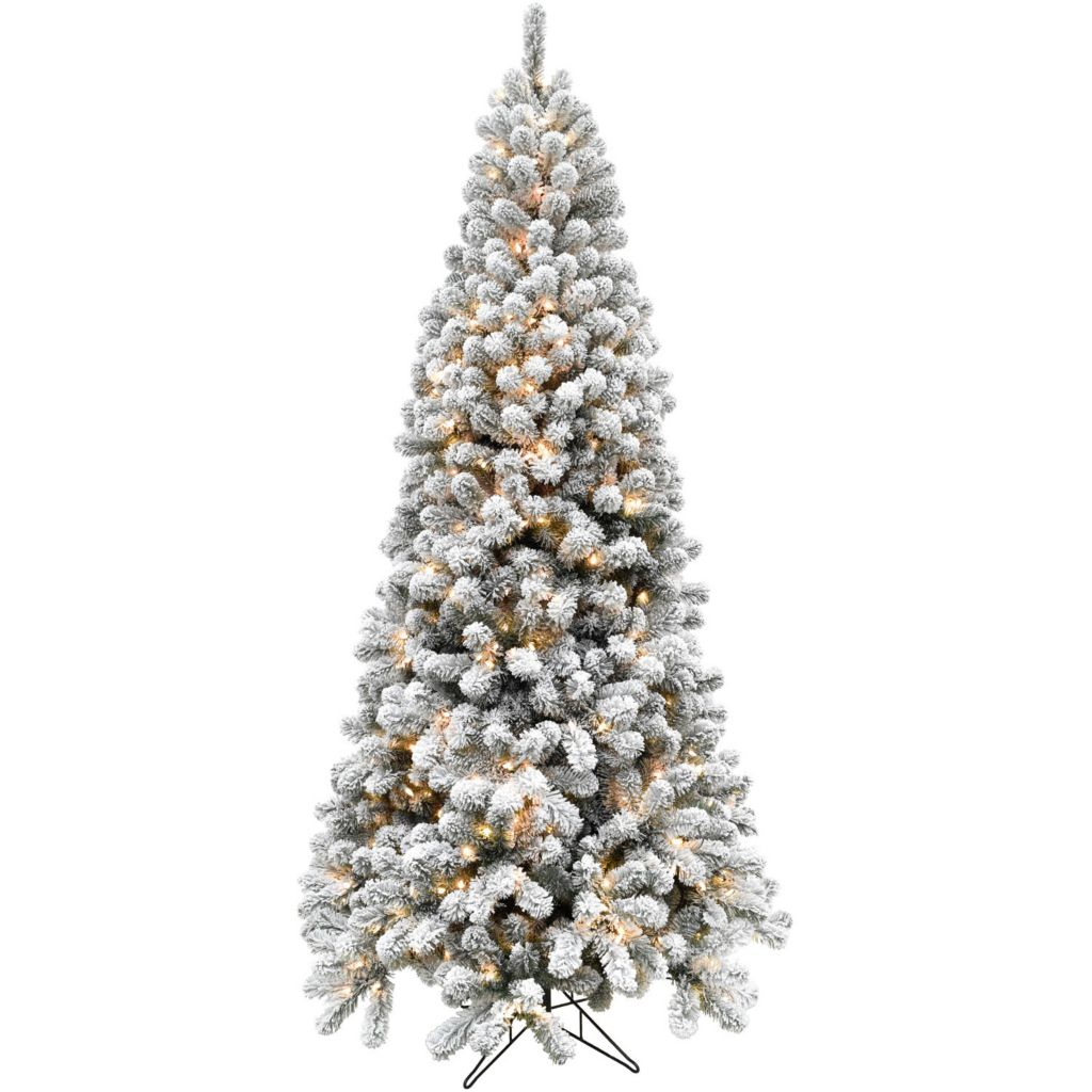 Artificial Christmas Tree Sizes.Fraser Hill Farm Choice Of Size Flocked Alaskan Pine Artificial Christmas Tree