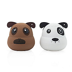 G.O.A.T. Set of 2 Mini Bluetooth Pet Speakers w/ LED Light & App