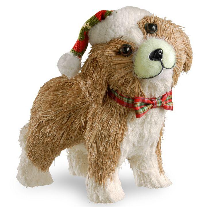 Holiday Decor - 487-165 Holiday Premium 11 Holiday Puppy Figurine
