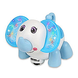 LINSAY Smart Blue Elephant Toy w/ LED Lights