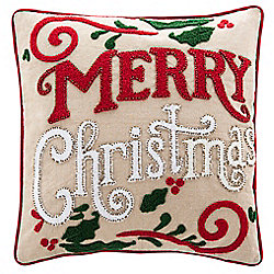 "Safavieh 18"" Merry Merry Throw Pillow"