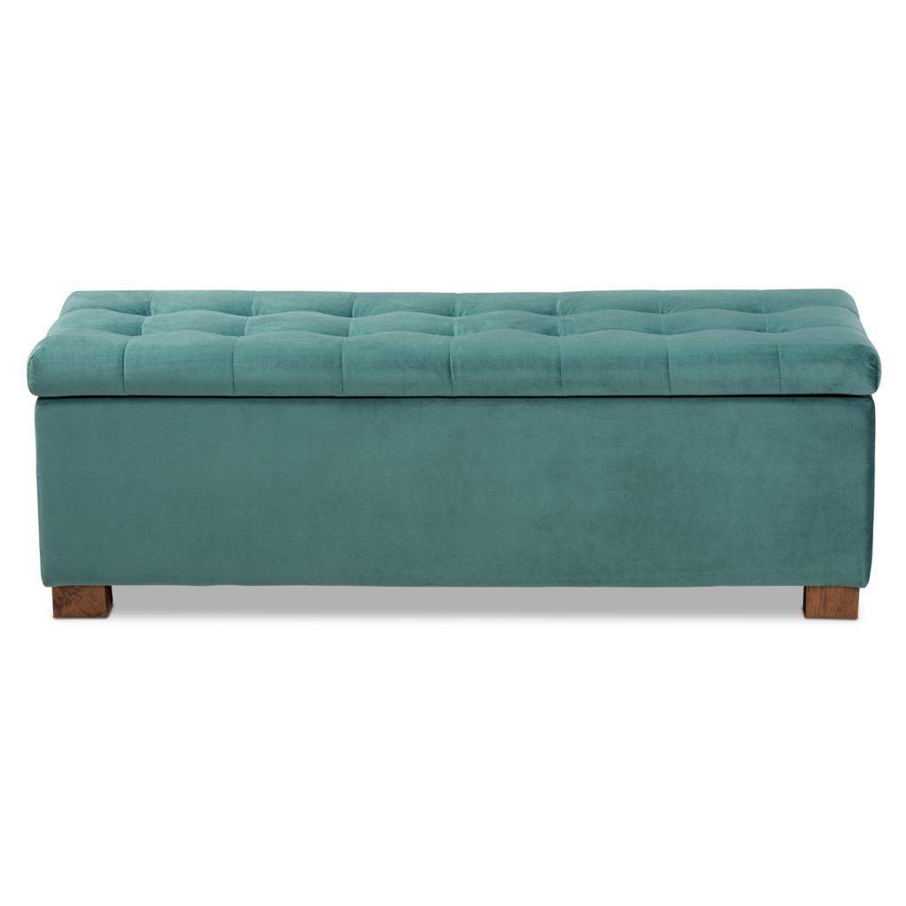 Superb Baxton Studio Roanoke Velvet Upholstered Storage Ottoman Bench Camellatalisay Diy Chair Ideas Camellatalisaycom