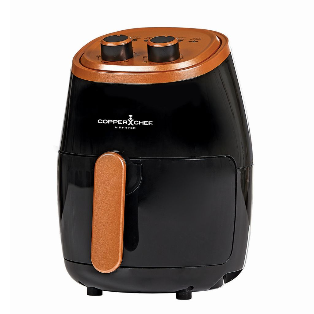 Copper Chef 1000W 2 qt Air Fryer with Fry Tray & Recipe Book - 487-787