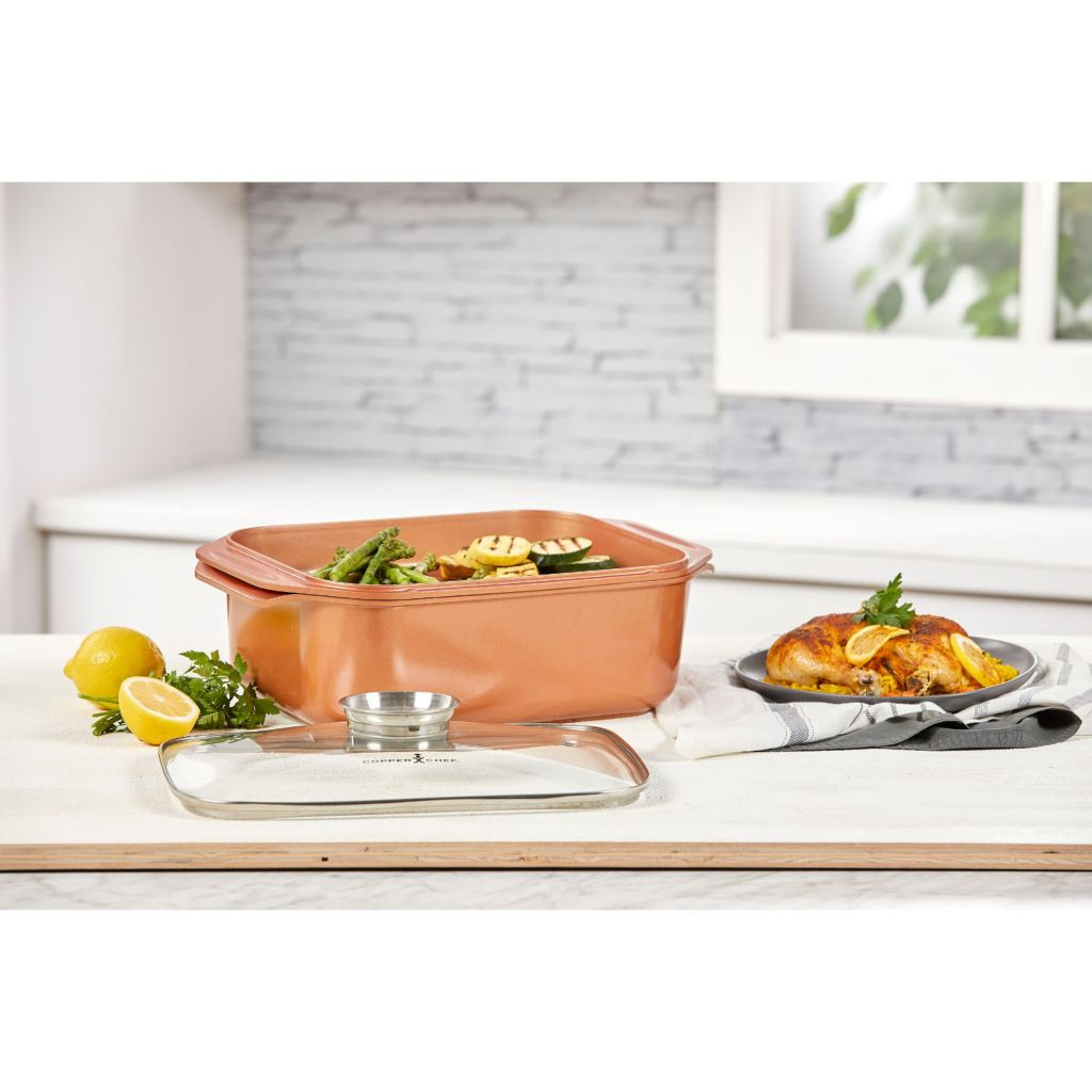 Copper Chef 12.5 qt Wonder Cooker XL with Shallow Pan & Lid - 487-788